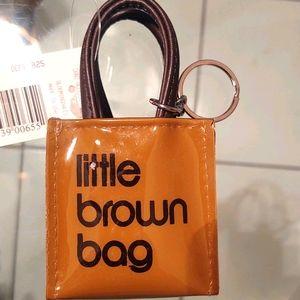 Little brown bag key chain, super cute! BN…